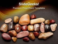 Diversity Stones Nature PowerPoint Themes And PowerPoint Slides 0411