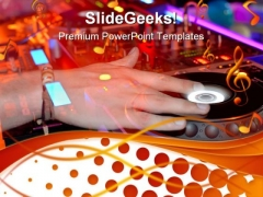 Djs Hand Music PowerPoint Themes And PowerPoint Slides 0311