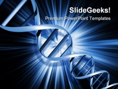 Dna Abstract PowerPoint Template 0910