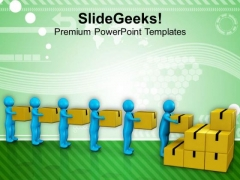 Do All Your Work With Team Effort PowerPoint Templates Ppt Backgrounds For Slides 0613