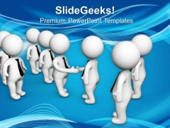 Do Business Meetings And Shake Hands PowerPoint Templates Ppt Backgrounds For Slides 0713