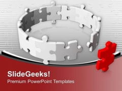 Do Not Become The Weakest Link In Team PowerPoint Templates Ppt Backgrounds For Slides 0513