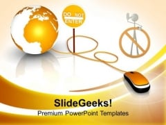 Do Not Enter E Business PowerPoint Templates Ppt Backgrounds For Slides 0313