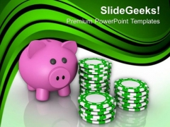 Do Not Play Poker With Savings PowerPoint Templates Ppt Backgrounds For Slides 0613