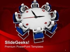 Do Review Meetings On Time PowerPoint Templates Ppt Backgrounds For Slides 0613