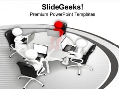 Do Review Meetings With Business Heads PowerPoint Templates Ppt Backgrounds For Slides 0713