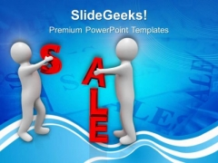 Do Shoping In Sale Season PowerPoint Templates Ppt Backgrounds For Slides 0613