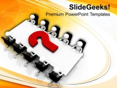 Do The Conference To Solve Issues PowerPoint Templates Ppt Backgrounds For Slides 0613