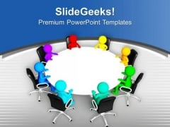 Do The Team Meeting For Business PowerPoint Templates Ppt Backgrounds For Slides 0613