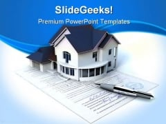 Documents On The House Real Estate PowerPoint Themes And PowerPoint Slides 0411