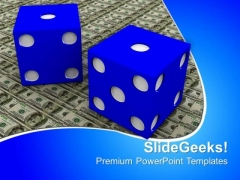 Dollar And Dice Money PowerPoint Templates And PowerPoint Themes 1012