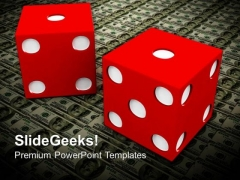 Dollar And Red Dice Business PowerPoint Templates And PowerPoint Themes 1012