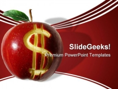 Dollar Apple Finance PowerPoint Backgrounds And Templates 1210