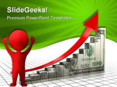 Dollar Charts With Arrow Finance PowerPoint Themes And PowerPoint Slides 0411