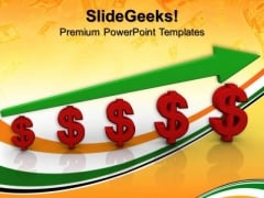 Dollar Currency Growth Success PowerPoint Templates And PowerPoint Themes 0712