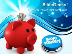 Dollar Notes And Piggy Bank Symbol PowerPoint Templates And PowerPoint Themes 1012