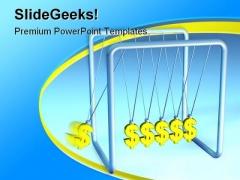 Dollar Pendulum Business PowerPoint Template 0810