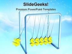 Dollar Pendulum Money PowerPoint Backgrounds And Templates 1210
