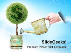 Dollar Plant Business PowerPoint Background And Template 1210