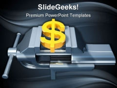 Dollar Pressure Money PowerPoint Background And Template 1210