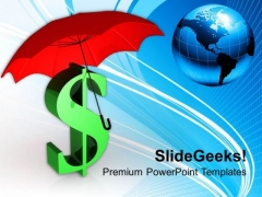Dollar Price Hike Under Umbrella Development PowerPoint Templates Ppt Backgrounds For Slides 0313