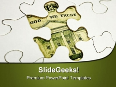 Dollar Puzzle Americana PowerPoint Templates And PowerPoint Backgrounds 0511