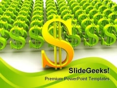 Dollar Sign Finance PowerPoint Background And Template 1210