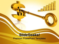 Dollar Success Key Finance Templates And PowerPoint Themes 0812