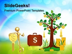 Dollar Tree Finance PowerPoint Templates And PowerPoint Themes 0312
