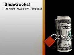 Dollars Chained And Locked Investment PowerPoint Templates Ppt Backgrounds For Slides 0213
