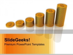 Dollars Forming Bar Graph Business PowerPoint Templates Ppt Backgrounds For Slides 1212