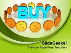 Doller Symbol In Circular Path Finance PowerPoint Templates Ppt Backgrounds For Slides 0413