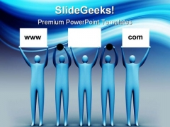 Domain Advertising Internet PowerPoint Backgrounds And Templates 1210