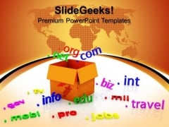 Domains Networking Business Communication PowerPoint Templates And PowerPoint Themes 0812