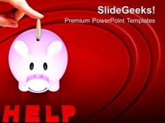 Donate And Save Money PowerPoint Templates Ppt Backgrounds For Slides 0513