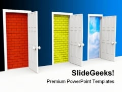 Door Future Success PowerPoint Templates And PowerPoint Backgrounds 0611