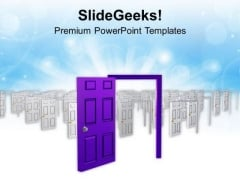 Door To New Opportunities PowerPoint Templates Ppt Backgrounds For Slides 0513