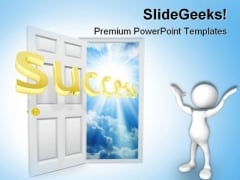 Door To Opportunity Success PowerPoint Templates And PowerPoint Backgrounds 0711