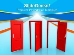 Doors Of Opportunity PowerPoint Templates Ppt Backgrounds For Slides 0613