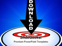 Download Arrow Target Interent PowerPoint Templates And PowerPoint Backgrounds 0611