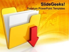 Download Folder Icon Computer PowerPoint Templates And PowerPoint Themes 1012