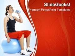 Drinking Water Health PowerPoint Themes And PowerPoint Slides 0411