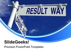Drive Ave And Result Way Symbol PowerPoint Themes And PowerPoint Slides 0711