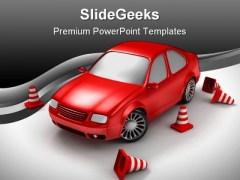 Drive Examination Travel PowerPoint Backgrounds And Templates 1210