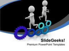 Drive On The Right Gear PowerPoint Templates Ppt Backgrounds For Slides 0613