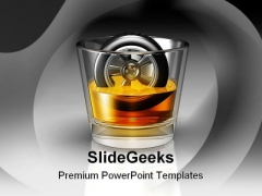 Driving And Drinking Symbol PowerPoint Backgrounds And Templates 1210