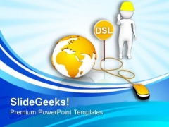 Dsl Is A Best Security Option PowerPoint Templates Ppt Backgrounds For Slides 0713