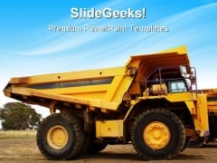 Dump Truck Travel PowerPoint Templates And PowerPoint Backgrounds 0411
