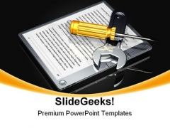 E Book Setup Internet PowerPoint Backgrounds And Templates 0111