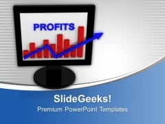 E Business Graph Progress Presentation PowerPoint Templates Ppt Backgrounds For Slides 0213